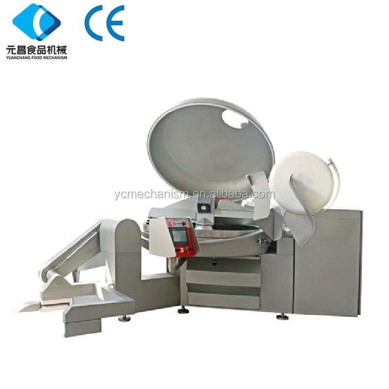 Electric Meat cutting machine /Automatic Frozen Meat bowl cutter automatic vegetable bowl cutter 0086-13930146703