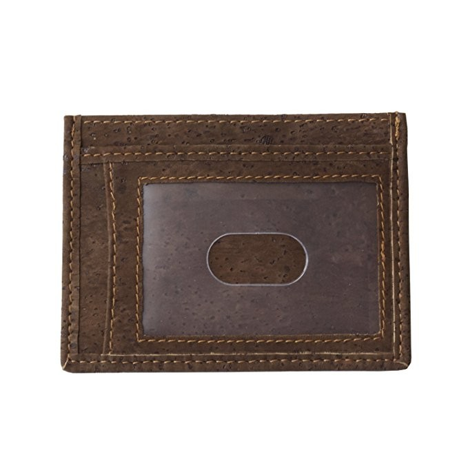 Cork Credit Card Case Wallet Slim Super Thin Front Pocket Wallet Eco Friendly Gift for Vegan