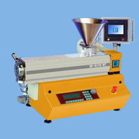 Benchtop small plastic single screw extruder / PLC control