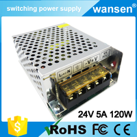 120W 24V 5A DC Output Switching Mode Power Supply Mini Size