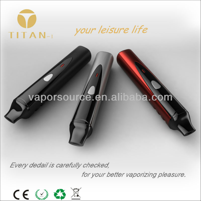 User-friendly herb vaporizer titan1 ,special design e-pipe for tobacco and herb