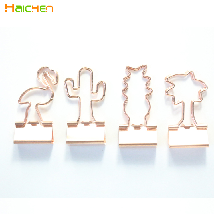 original creative plant design metal office school paper <strong>clips</strong> set stationery,cute student binder <strong>clip</strong> for notebook