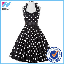 Summer Dress Women Vestidos Retro 1950s 60s Vintage Clothing Polka Dots Pinup Rockabilly Plus Size Sexy Halter Dresses
