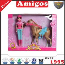 good solid kids doll with horse