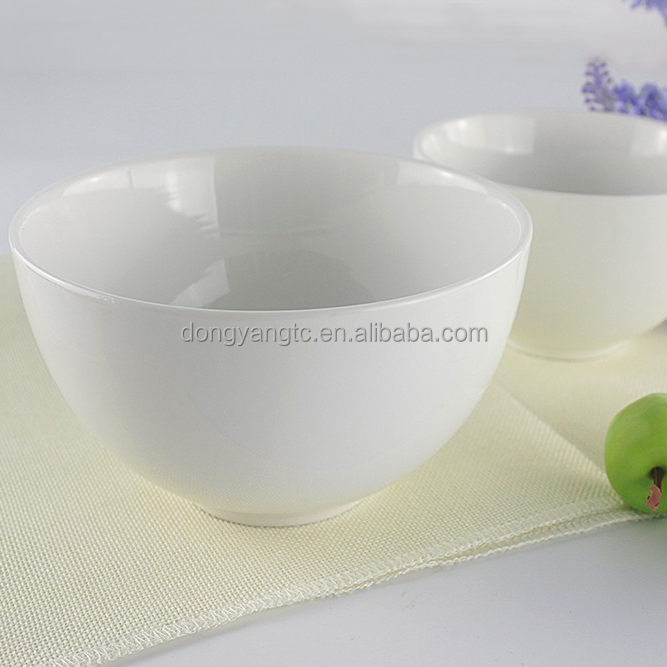 "5"" 6"" cereal bowls round ceramic white porcelain china restaurant household dinner oatmeal serving salad custard soups rice bowl"