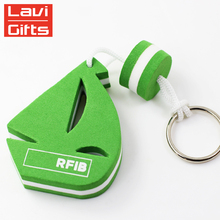 Cheap Wholesale No Minimum Custom EVA Foam Floating Boat Key Ring Keychain Key Chain