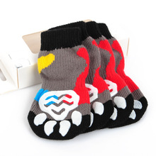 Wholesale high quality lovely pet shoes non skid dog socks