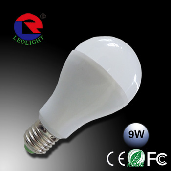 Free sample ! Manufacture Aluminum And Plastic 9W A19 Led Bulb E27 B22 E14 CE ROHS FCC listed