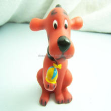 Kids pvc vinyl dog toy custom unique OEM pet toy for kids