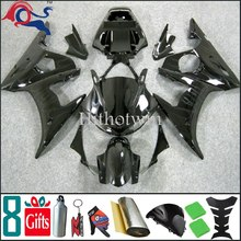 2003 2004 2005 YZFR6 For yamaha all pure black flame Fairing Kit Set Fit For yamaha YZF R6 2003 2005 2004