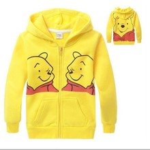 2015 little boysboys yellow hoodies with zipper for kids