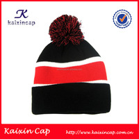 Customized jacquard winter ski pom knitted beanie hat