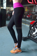 Women Colorful Patchwork Yoga Sports Pants Elastic Exercise Tights Fitness Running Trousers Slim Leggings
