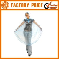 Promotional Gift Personal Lable Printed Transparent Disposable PVC Raincoat Women Poncho