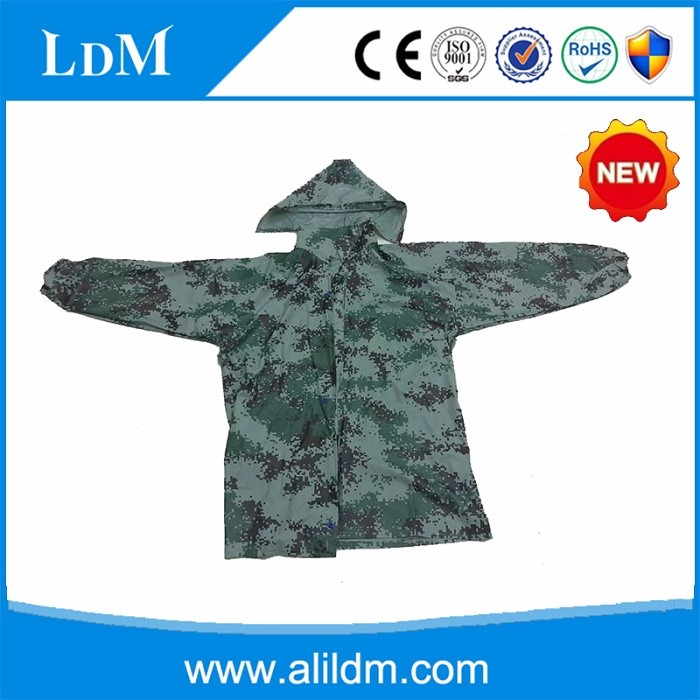 hot sale army poncho raincoat polyester military uniform army poncho raincoat camouflage