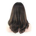 14inches Big Layer Super Fine European Virgin Hair Highlight Color #2/4 Jewish Kosher Wig