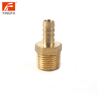 66112-4 Hose barb to male pipe brass nipple fitting for plastic hoses