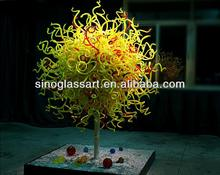 Colorful round art glass chanderlier sculpture
