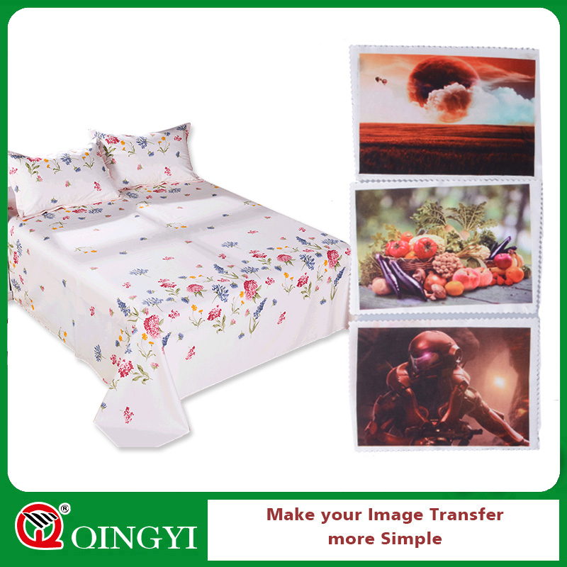 Qingyi Sublimation heat transfer press stickers for bed sheets