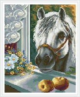 GZ407 handcrafts horse diy crystal diamond painting for home decor