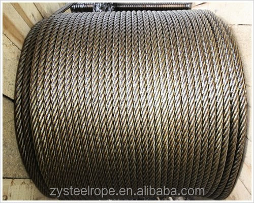 6x36 Anti-twist Thin Used steel wire rope 19mm factory for 25 years