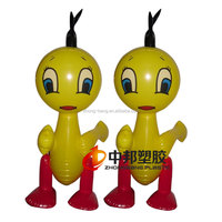 lovely 3D pvc inflatable cartoon figures toys for kids