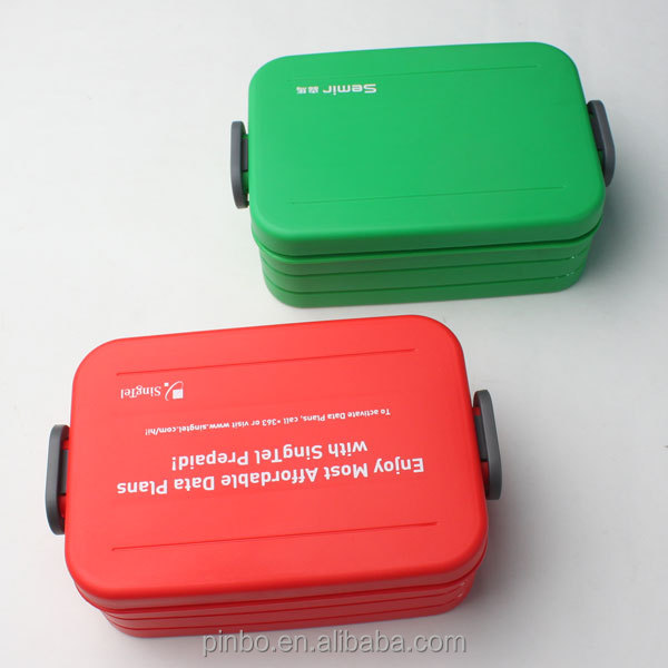 Custom Plastic container for food with dividers