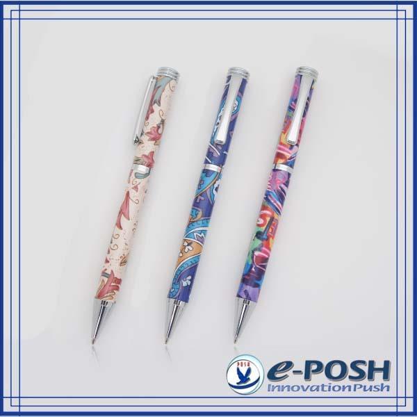 Colorful heat transfer imprint sublimation metal ballpoint pen