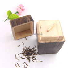 Solid wood tea leaves coffee beans storage box storage box