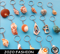cheap custom polyresin and metal type keychain/ animal keychain/sea horse with shell keychain