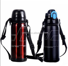 Double Wall Stainless Steel Multi-fonction vacuum flask with strap