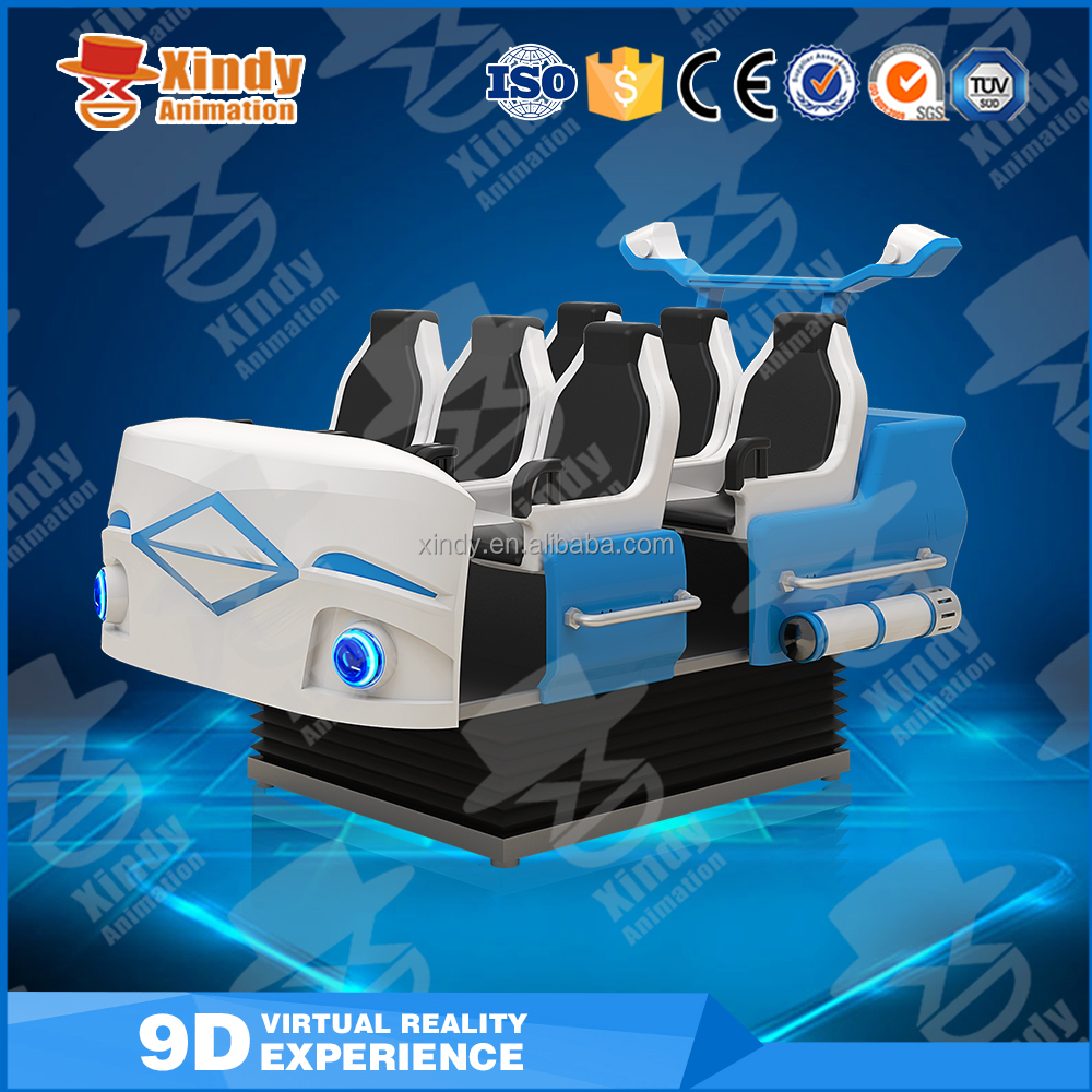 factory price vr headset,imax virtual reality 9d cinema, 9d movies seats six players for sale