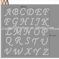 DIY alphabet letter iron on stone heat transfer