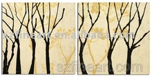 Decorative group oil painting tree design of modern art