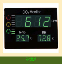 HT-2008Dongguan XINTEST LED Display Alarm Function air quality monitor CO2 meter large temperature humidity display