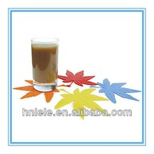 LELE Newest Design cup silicone rubber mat/silicone coaster