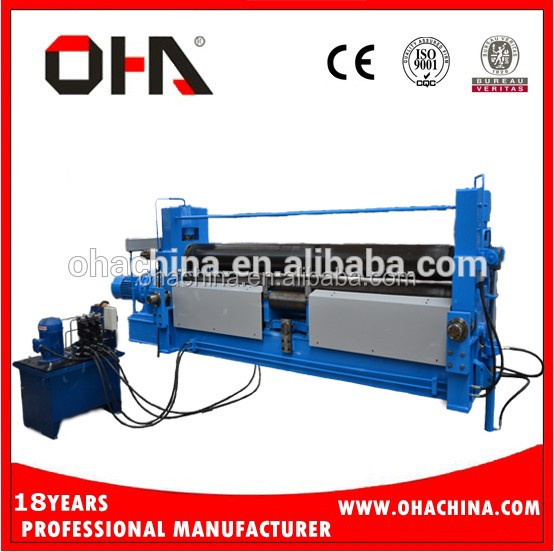 "OHA"" Brand <strong>W11s</strong> 35*2500 Top quality CNC Hydraulic 3 Rolls Plate Bending Machine Bending Machine"