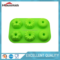 6 Flowers Grade Silicone Cake/Chocolate/Jelly DIY Bakeware Mould
