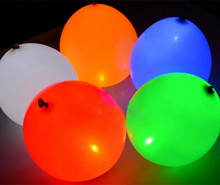 12 inch LED latex balloons, glow in dark LEDS globos