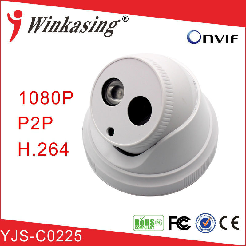 Manufacturer supply 12V 2 LED Dome indoor ip camera 1080P for CCTV <strong>security</strong> YJS-C0225