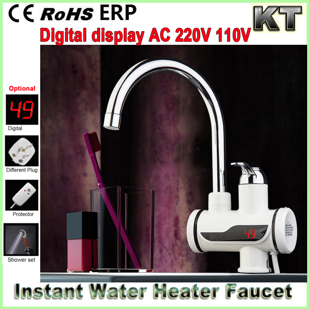 220v 3000W Digital Tankless mini water faucet instant electric heater instant hot water tap