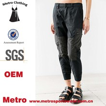custom design women cargo-style patched jogger pant