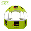2018 Customized Dia 3m Easy Up Collapsible Mall Kiosks for Sale Dome Hexagonal Tent