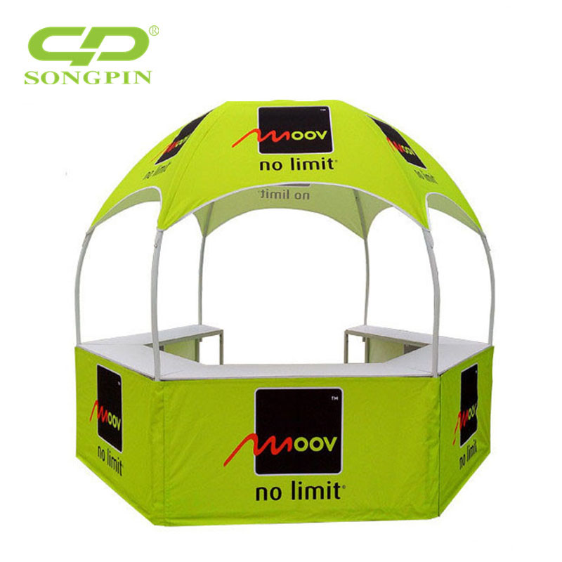 Dia 3m easy up collapsible dome hexagonal tent mall kiosks for sale