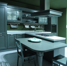 Glossy Kitchen Cabinet/Ready to Assemble Kitchen Furniture Solid Wood Kitchen Cabinets with All Accessories