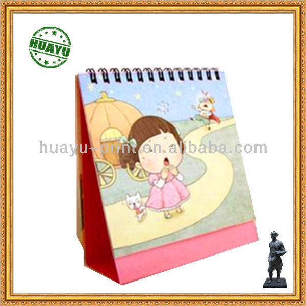 4C Cartoon desktop calendar printing supplier