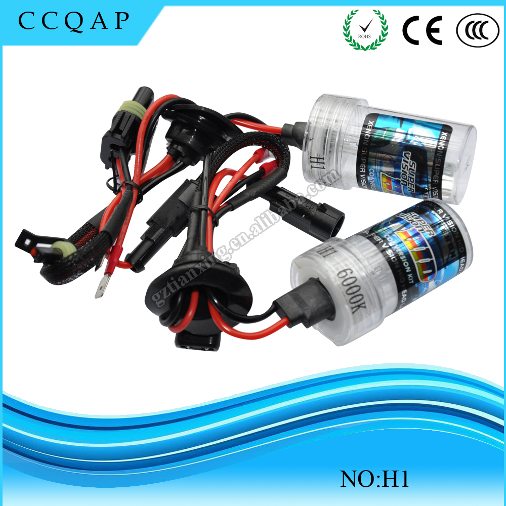 DC 12V Car accessories H1 H8 H9 35w Slim Canbus lamp xenon hid kit 6000k h1 headlights