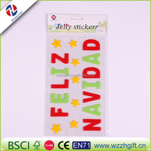 High Quality Deorative Alphabet Soft Jelly Sticker Promotional Gel Window Stickers