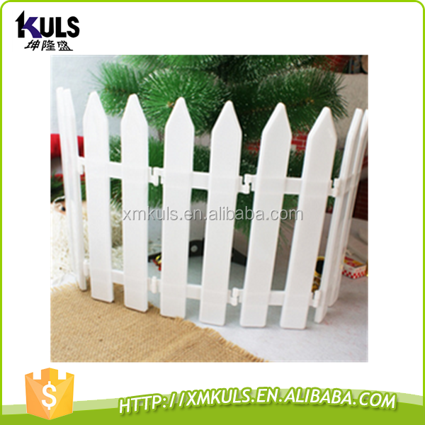 Christmas tree plastic white fence lighted christmas fence decoration