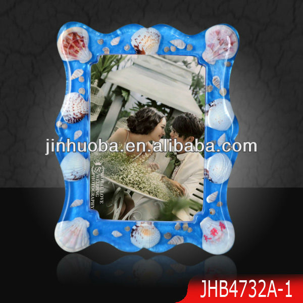 2013 New nature shell photo frame,Hyaline resin picture frame